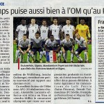ARTICLE DE PRESSE FOOT